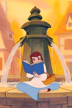 Look, there she goes. That girl is so peculiar..I wonder if she's feeling well. With a dreamy far off look - her nose stuck in a book..What a puzzle to the rest of us is Belle.