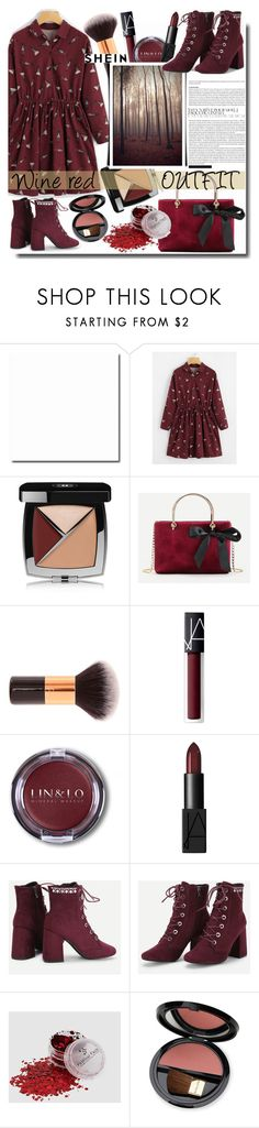 """Wine red OUTFIT /Shein"" by fashiondiary5 ❤ liked on Polyvore featuring Chanel, NARS Cosmetics, Dr.Hauschka and shein"