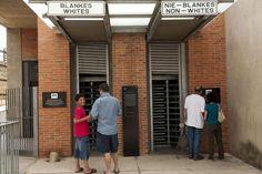 Gates used during the apartheid era, Apartheid Museum, Johannesburg