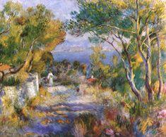 """Pierre-Auguste Renoir (Frans, impressionisme, 1841-1919) - 'L'Estaque """"(1882) Olieverf op doek, 66 x 81 cm Prive-collectie."""
