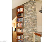 23 'Ledgestone' Stone Siding (New England Fieldstone) Stone Siding, Stone Columns, Stone Veneer, New England, Photo Galleries, Bookcase, Shelves, Living Room, Architecture