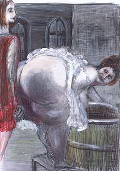 Seite 22 - Peronella verdeckt mit ihrem Körper die Öffnung des Fasses.