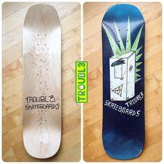 Punko Bots - TROUBL3 SKATEBOARDS Custom Decks | TROUBL3 Skateboards Custom Skateboard Decks, Custom Skateboards, Custom Decks, Everything Changes, Skateboarding, Earth, Colours, Skateboard, Skateboards