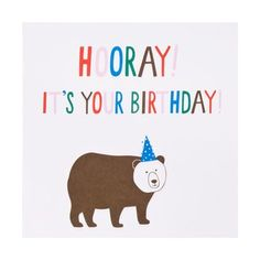 Greeting Card Hooray: Forest Friends | All Products | Cards & Wrapping | Cards | Shop | kikki.K Stationery & Gifts