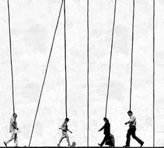 Lines. Movement. Black/White.