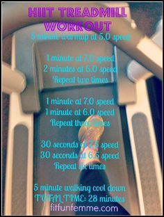 HIIT treadmill. This will get your blood pumping!