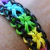 Rainbow Loom armbånd med stjernemønster