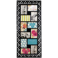 Azzure Home Black Honeycomb Collage Photo Frame ($30) ❤ liked on Polyvore
