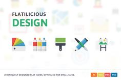 Design Flat Icons by Pixel Bazaar on @creativemarket