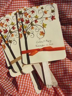 I love these! Cute idea for fans or invitations.