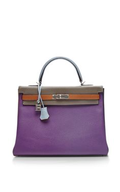 Hermes 35Cm Harlequin Clemence Kelly by Heritage Auctions Special Collection - Moda Operandi