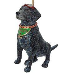 december diamonds spoiled rotten black labrador retreiver ornament rhinestones - Black Lab Christmas Ornament