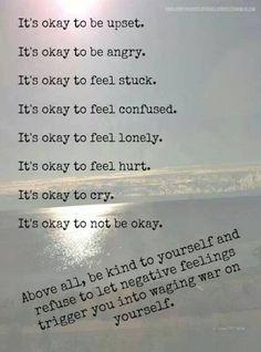 It's okay to be human