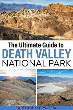 The complete guide to Death Valley National Park: best things to do, sample itineraries, interesting facts, when to go, where to stay, and more. #dvnp #deathvalley #nationalpark