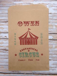 25 Custom Big Top Tent Candy Bags-Candy by SweetJellyParties