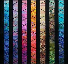 """Beautiful.  """"Twilight Descends"""" by art quilter Pam Geisel (Ohio)."""