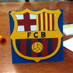 FC Barcelona birthday card I made for a friends bday :)