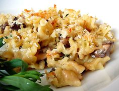 Mushroom Herb Mac and Cheese | Wisconsin swiss and white cheddar really complement each other well in this recipe. The addition of mushrooms and herbs truly makes this more of a glammed up, gourmet style dish that you could easily serve to company and feel confident about.