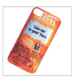 taco bell iphone 4 case, iphone 4s case, iphone 4 cover. $16.00, via Etsy.
