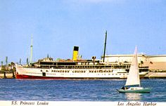 For many years she sat in the LA Harbor as a restaurant. Ate there a number of times as a kid. My younger years living in Long Beach. California City, San Francisco California, Canadian Pacific Railway, Princess Louise, Harbor City, Boat Plans, Long Beach, Back In The Day, British Columbia