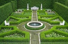 herb garden design layouts with focal point in the summer the listing copy describes the 7705 square foot 8 bedroom Formal Garden Design, English Garden Design, Herb Garden Design, Garden Ideas, French Formal Garden, French Courtyard, Boxwood Garden, Topiary Garden, Topiaries