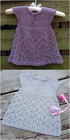 7fc849738871 Serafina Knitted Lace Baby Dress  FREE Knitting Pattern