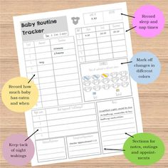 Baby Routine Tracker by ScatteredPapers1 on Etsy