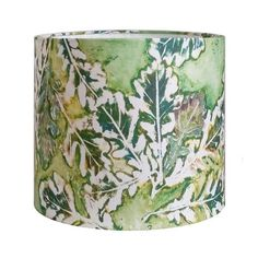 Linen Oak Drum Lamp Shade in Emerald 11x10 by BelfastBayShadeCo