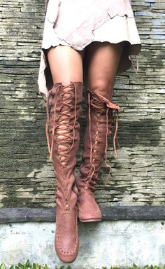 Leather Boots – Chocolate Knee High Leather Boots | Gipsy Dharma