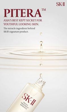 Change your skin's destiny with SK-II Facial Treatment Essence with over 90%  Pitera. Pitera™ is a clear liquid rich in vitamins, amino acids, minerals and organic acids. It's the miracle ingredient discovered over 35 years ago that remains essentially unchanged till today. Retain the natural functions of your skin and discover this miracle ingredient from SK-II today.