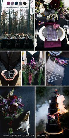 Fall Wedding Colors, Purple Wedding, Dream Wedding, Black Wedding Themes, Wedding Things, Wedding Stuff, Viking Wedding, Gothic Wedding, Pagan Wedding
