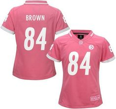Women's Pittsburgh Steelers Jersey 84 Antonio Brown Pink Bubble Gum 2015 NFL Jerseys