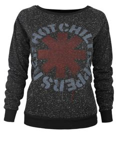 Amplified Exclusive Red Hot Chili Peppers Womens Black Speckle Sweater | eBay