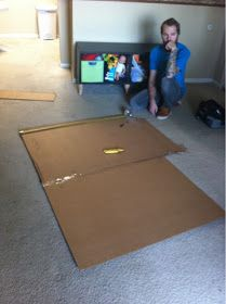 James and I have been wanting a new headboard for a while now. However, the lack of funds has held us back. However, we got the brilliant . Cardboard Headboard, Cheap Diy Headboard, Headboard Ideas, Diy Cardboard, Diy Arts And Crafts, Home Crafts, Diy Home Decor, Diy Crafts, Creative Crafts