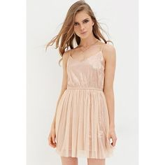 Blush Sequin Tulle Dress, Size Small All over sequins with layer of tulle. Adjustable straps. 29 inches from bust to hem. Brand new with tags. Forever 21 Dresses Mini