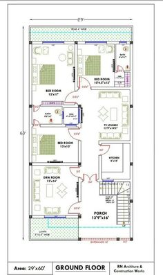 A house plan is a set of construction or working drawings (sometimes called blueprints) that define all the construction specifications of a residential 40x60 House Plans, Town House Plans, 2bhk House Plan, Bungalow Floor Plans, Simple House Plans, Basement House Plans, Modern House Floor Plans, House Layout Plans, Duplex House Plans
