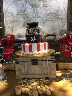 Amazing vintage pirates  birthday party! See more party ideas at CatchMyParty.com!
