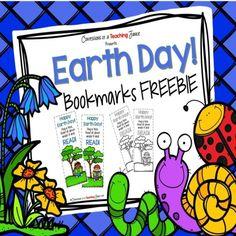 Earth Day Bookmarks FREEBIE