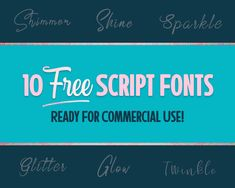 10 Fancy & Free Script Fonts for Commercial Use Free Cursive Fonts, Script Fonts, Font Free, Vintage Fonts, Vintage Typography, Graphics Vintage, Vector Graphics, Best Free Fonts, Font Combinations