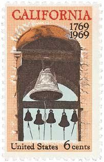 #1373 - 1969 6c California Settlement Postage Stamp Numbered Plate Block (4) . $0.25