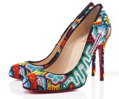 Mexibeads by Christian Louboutin. Inspired by Huichol Jewelry.