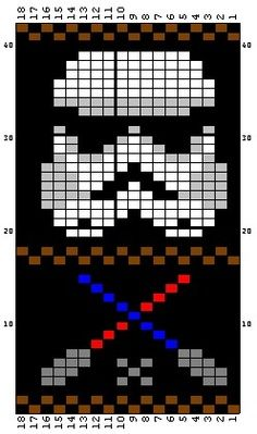 storm trooper bead loom pattern