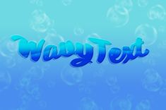 How to Create a Wavy Text Effect inPhotoshop Gaussian Blur, Photoshop Text Effects, 3d Text, Text Tool, Design Blogs, Vector Shapes, Light Blue Color, Abstract Backgrounds, Neon Signs