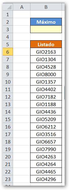 La Rebotica de Excel: Máximo de un Alfanumérico