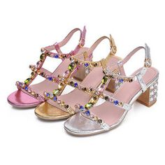 Ladies-block-heel-faux-rhinestones-shinning-sandals-open-toe-slingbacks-shoes