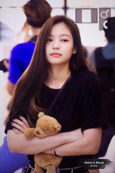 Jennie and her teddy bear