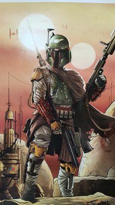 Boba Fett Art, Star Wars Boba Fett, Star Wars Art, Master Chief, Art Prints, Stars, Illustration, Artist, Fictional Characters