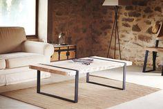 Table basse en chêne massif et acier : Meubles et rangements par brotherwood