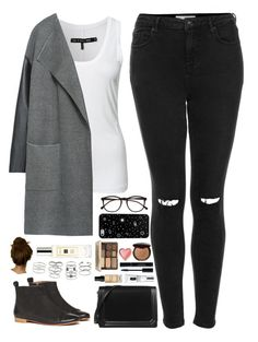 """""""Cold outside."""" by whisperofregret ❤ liked on Polyvore featuring Topshop, rag & bone, Zara, Modern Vintage, CHARLES & KEITH, Clinique, Bobbi Brown Cosmetics, Too Faced Cosmetics, Miss Selfridge and Jo Malone"""