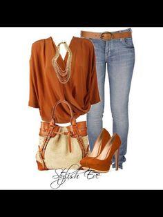 Burnt orange tunic sweater